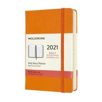 MOLESKINE 12M DAILY PK CADIUM ORANGE HARD 2021