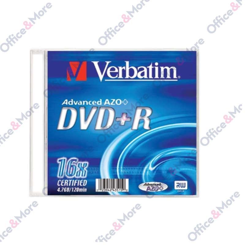 VERBATIM DVD+R SLIM 4,7GB 16X