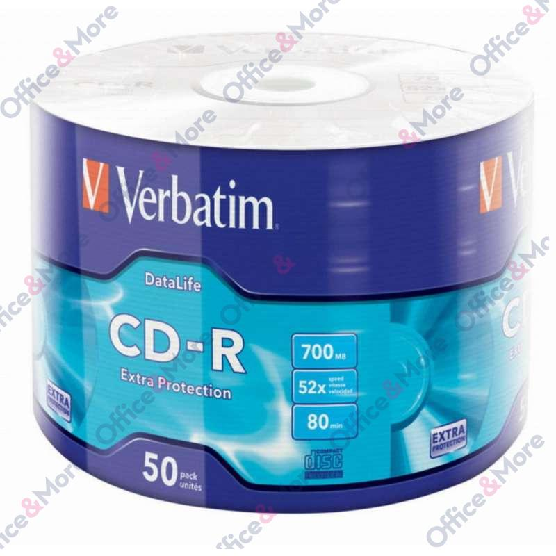 VERBATIM CD-R 50/1 FOLIJA 52X 700MB