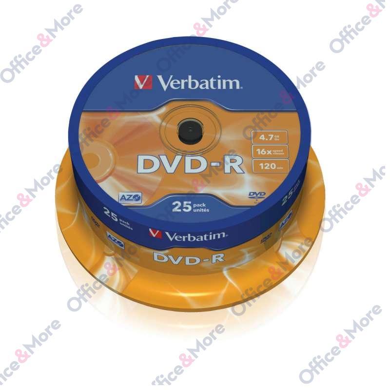 VERBATIM DVD-R 25/1 SPINDLE 16X