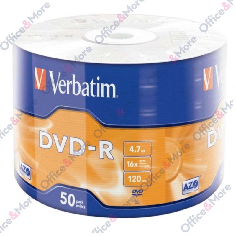 VERBATIM DVD-R 50/1 FOLIJA 16X