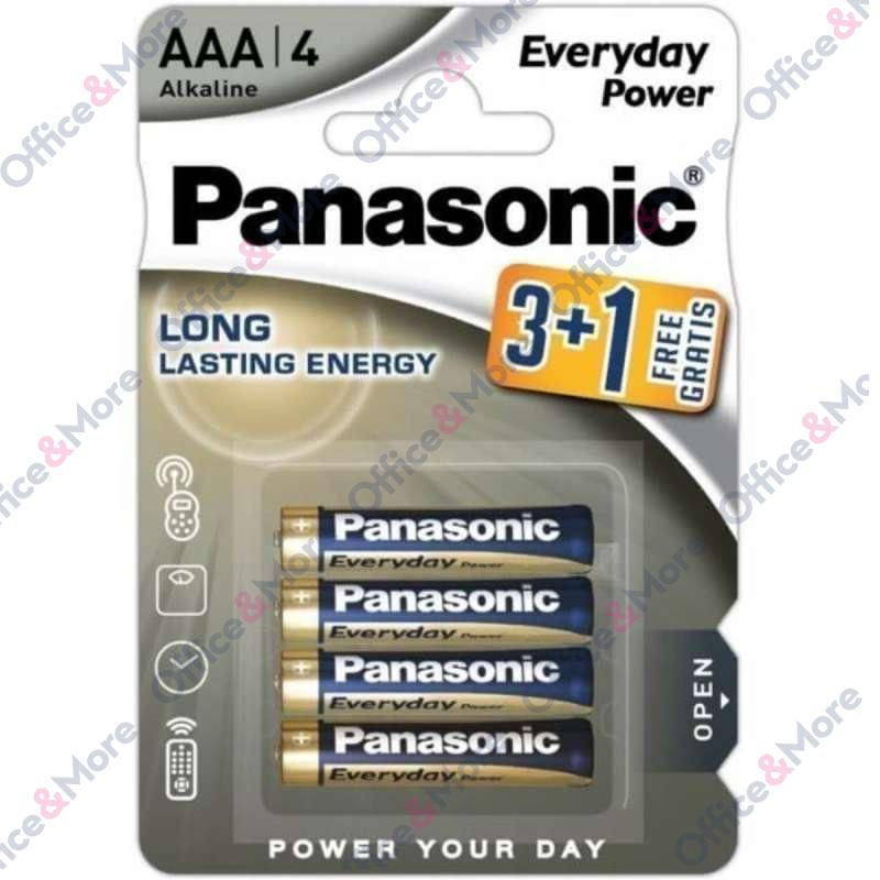 PANASONIC BATERIJA ALK.LR03-AAA-1,5V,pak.3+1