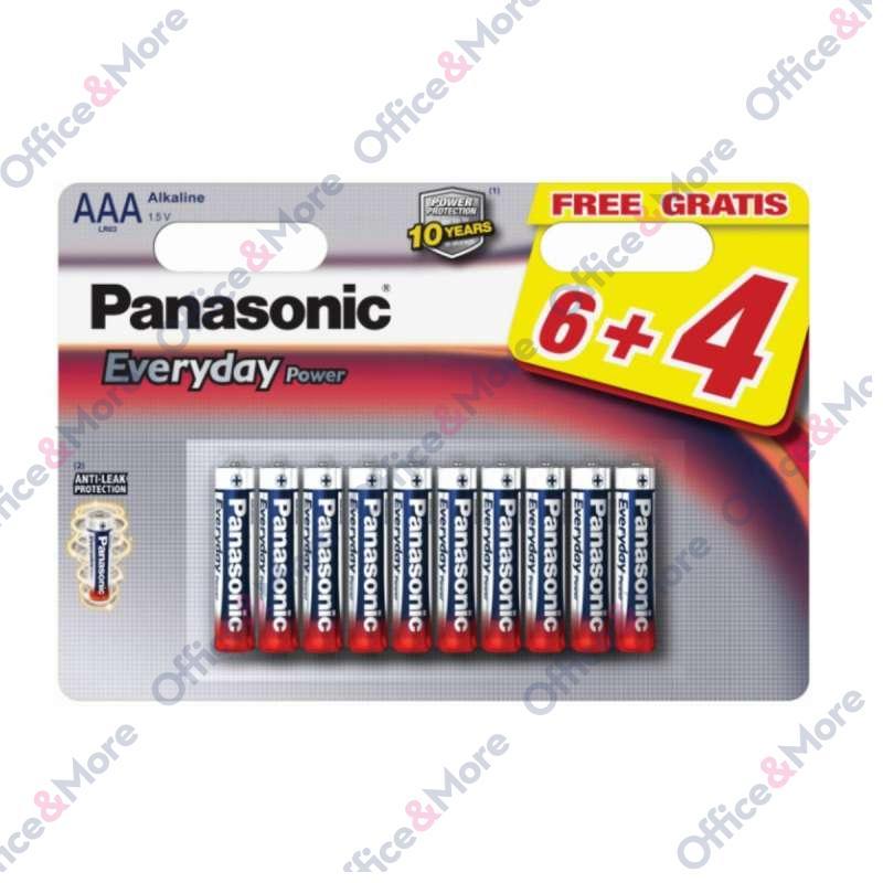 PANASONIC BATERIJA ALK.LR03-AAA-1,5V,pak.6+4