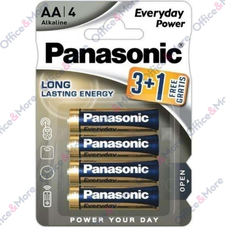 PANASONIC BATERIJA ALK.LR6-AA-1,5V,pak.3+1