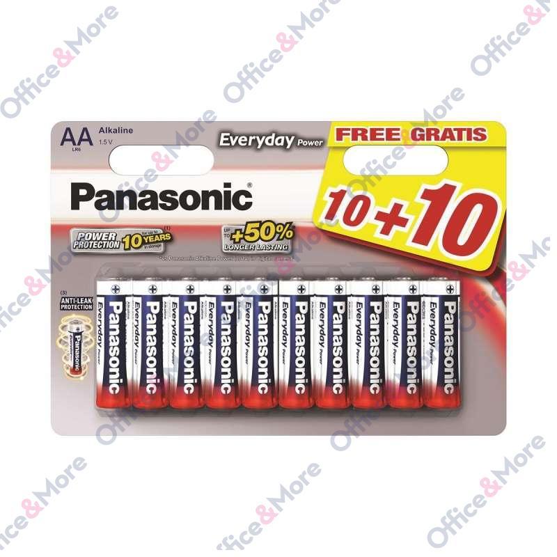 PANASONIC BATERIJA ALK.LR6-AA-1.5V,pak.10+10