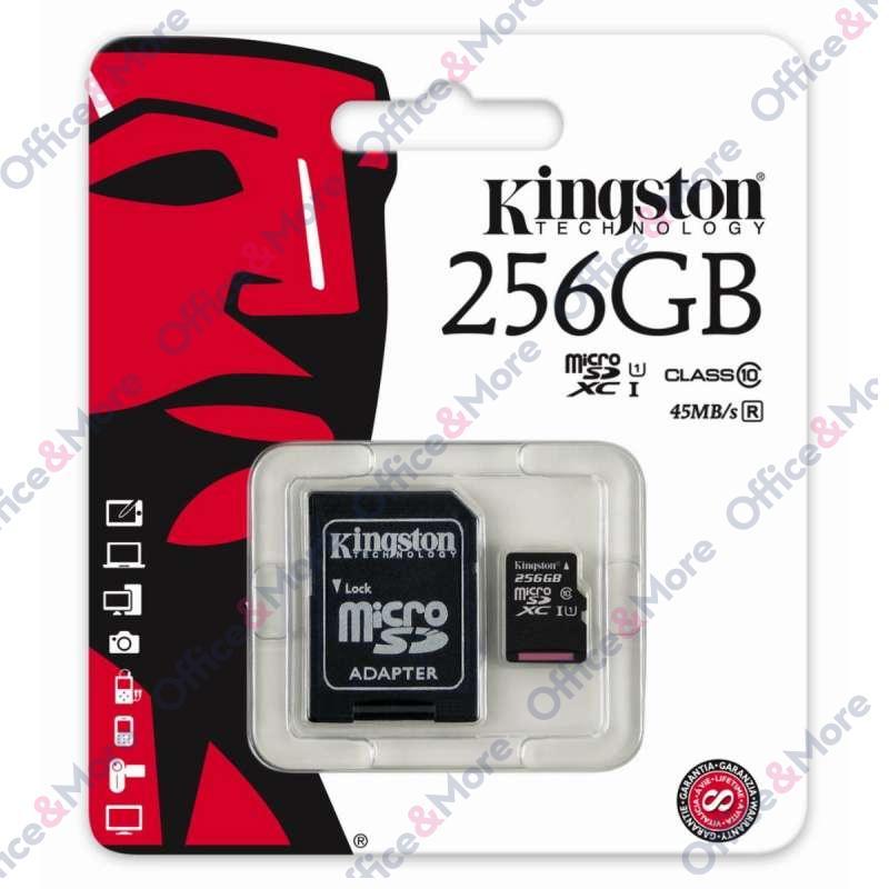 KINGSTON MICRO SD 256GB MEM.KARTICA+ADAPTER (10)