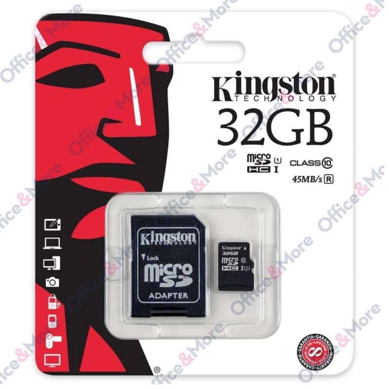 KINGSTON MICRO SD 32GB MEM.KARTICA+ADAPTER (10)