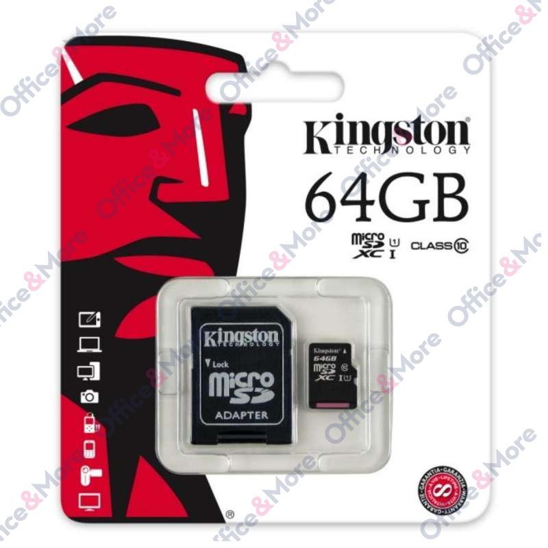 KINGSTON MICRO SD 64GB MEM.KARTICA+ADAPTER (10)