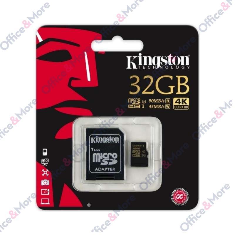 KINGSTON MICRO SD 32GB + ADAPTER UHS-I Class 3