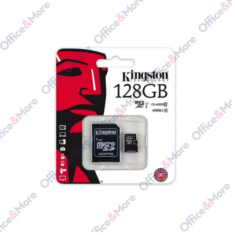 KINGSTON MICRO SD 128GB MEM.KARTICA+ADAPTER (10)
