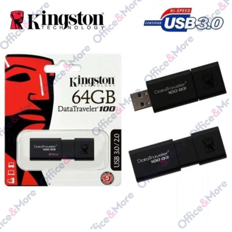 KINGSTON USB FLASH MEM. 64GB DT100G3