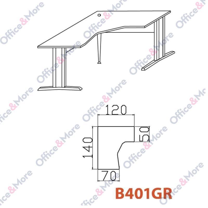 OMF STO B401GR SIVA 140/120/70/74