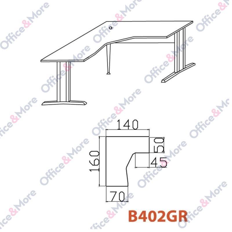 OMF STO B402GR BUKVA 160/140/70/74