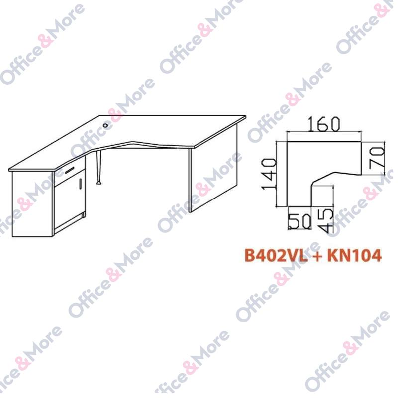 OMF STO B402VL+KN104 TREŠNJA