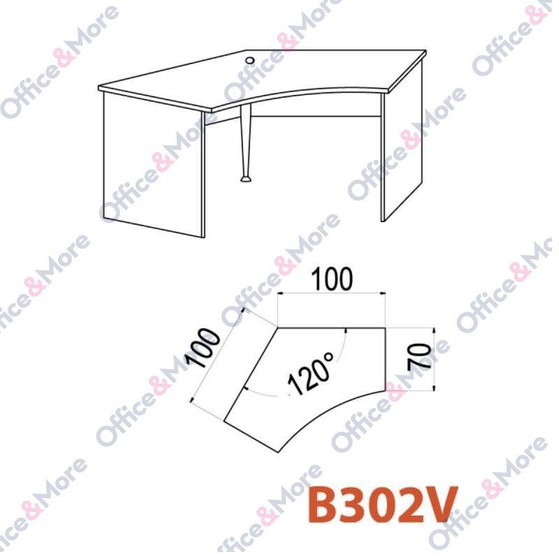 OMF STO B302V 100/100/70/74 SIVA