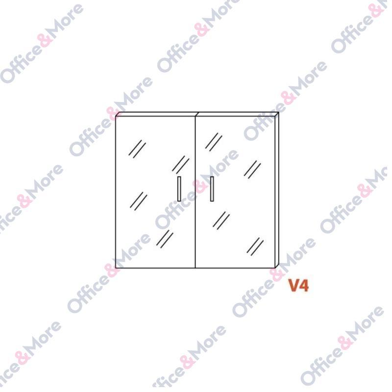 OMF VRATA V4 ZA H85 STAKLENA 2kom.dim.37,7x76,4cm