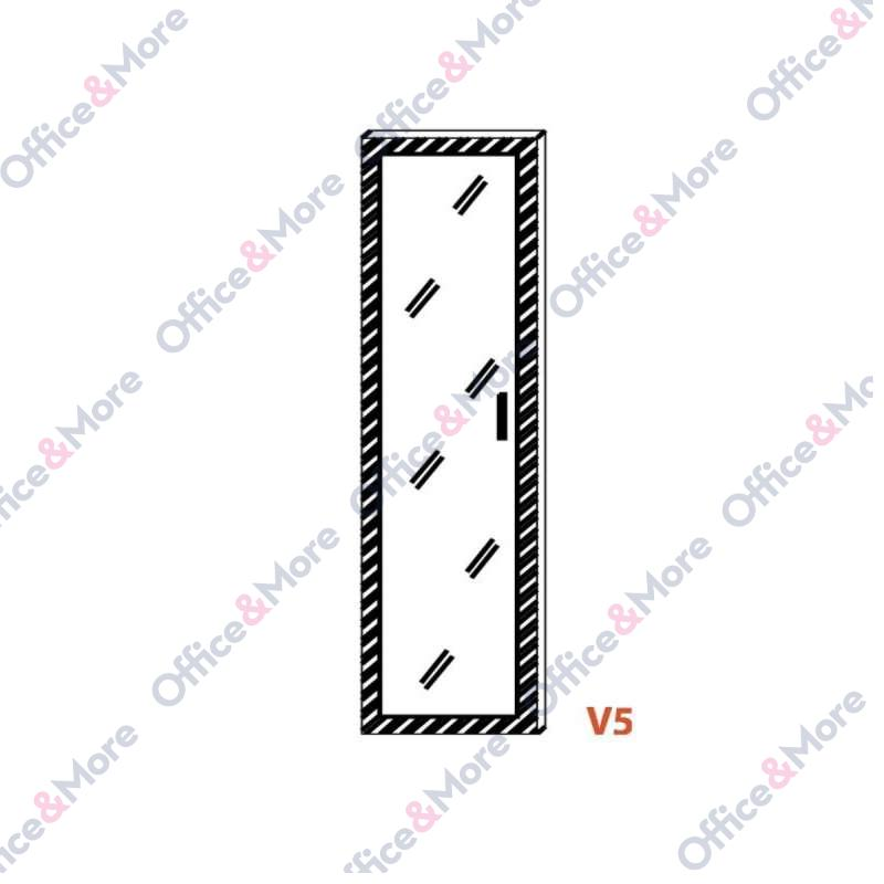 OMF VRATA V5 ZA H162 STAKLENA+ALU RAM 1kom
