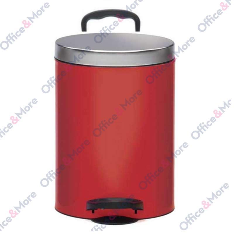 Kanta za smeće čelična 5 l crvena - 807151