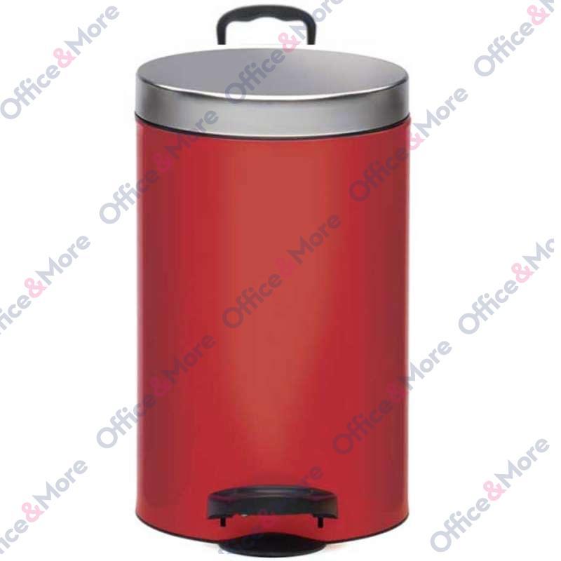 Kanta za smeće čelična 14 l crvena - 978851